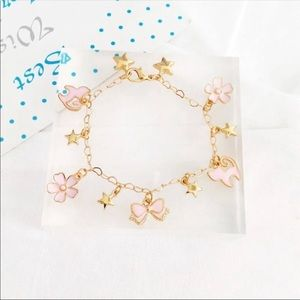 Jewelry - New Sailor Moon Pink And Gold Charm Bracelet